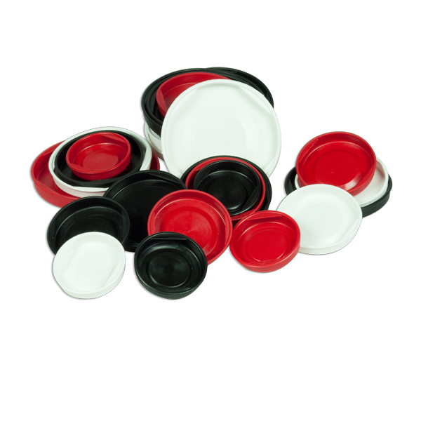 Plastlåg kan bestilles i blå, sorte og røde